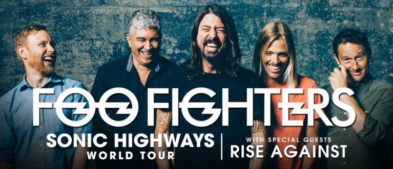 Foo Fighters Rise Against Mt Smart Auckland Sonic Highways World Tour