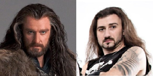Thorin Oakenshield, left, and Gee Anzalone, right