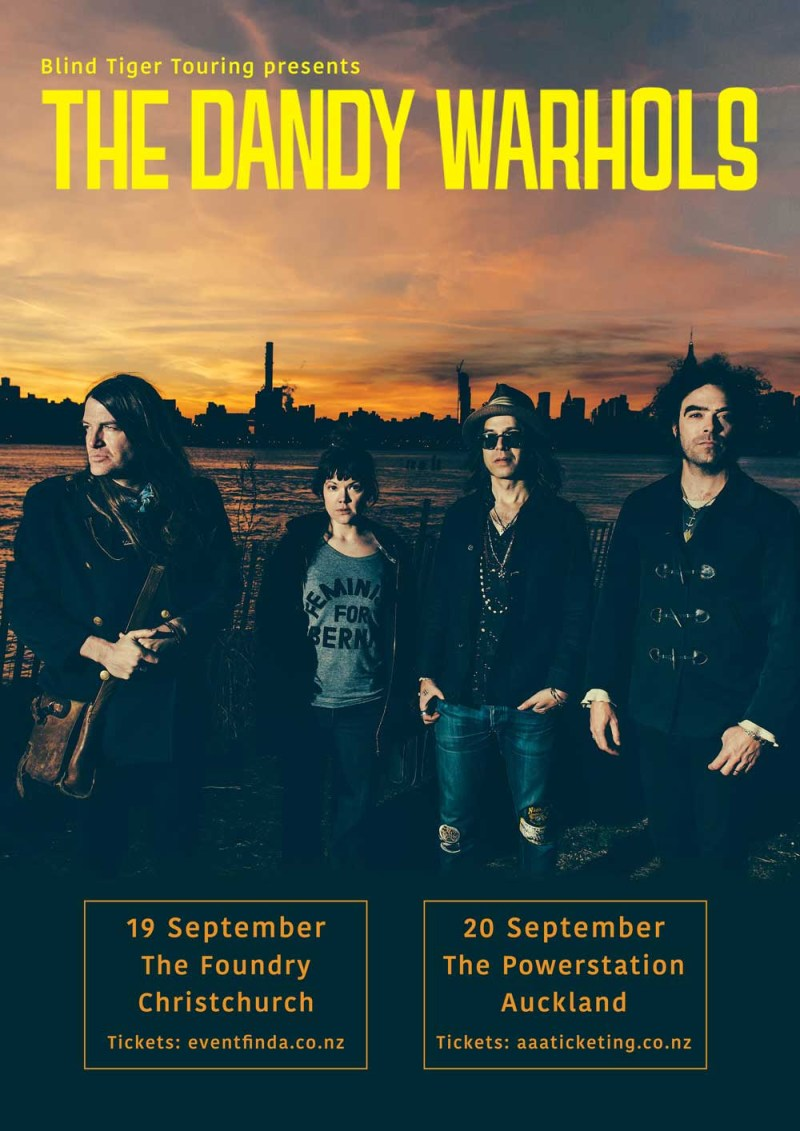 Dandy Warhols NZ tour poster