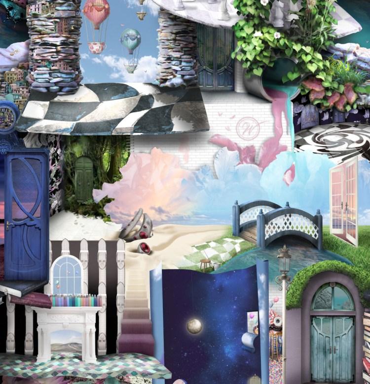Quirky Incredible Interior Wallpaper Fantasy Surreal