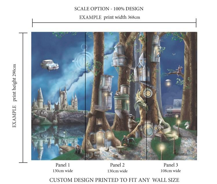 Harry Potter wallpaper wall mural bedroom
