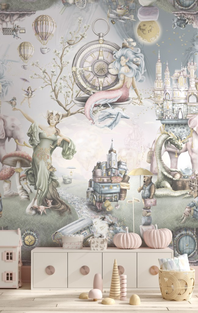 Beautiful girls fairy tale wallpaper wall mural