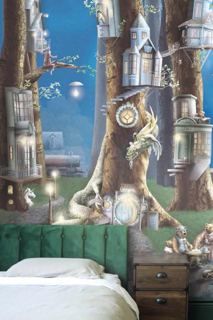 Kids dragon wallpaper wall mural