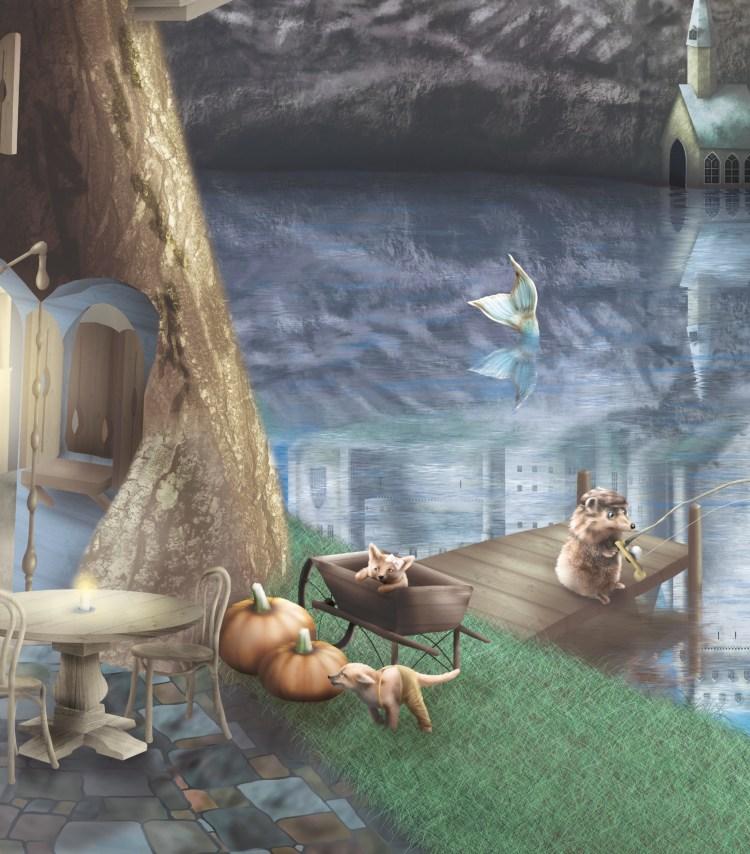 fairy tale creatures kids wallpaper wall mural