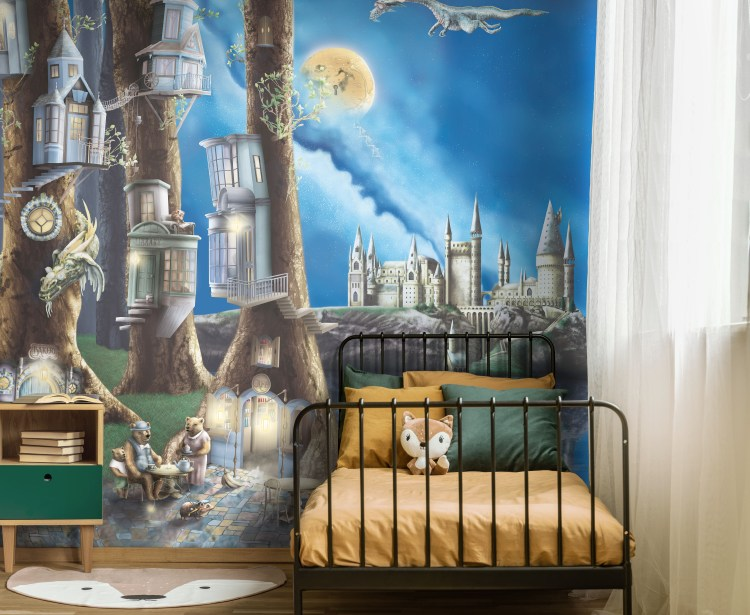 Boys Woodland Forest Nursery Bedroom Wallpaper wall mural