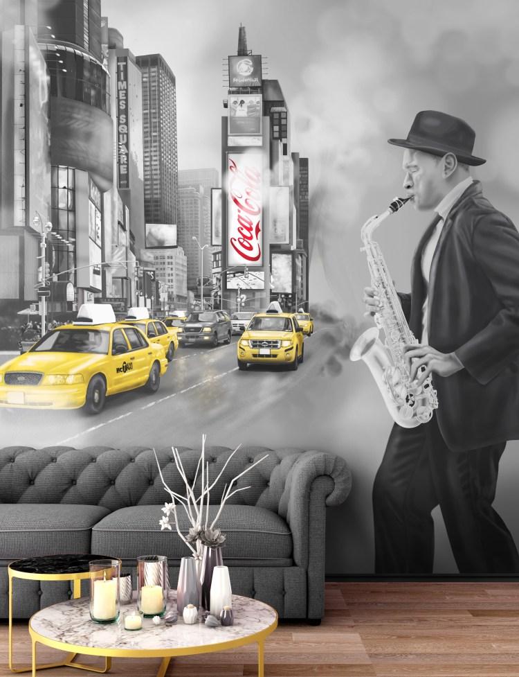 Grunge Industrial New York City Cab Smoke Inteior Wallpaper2