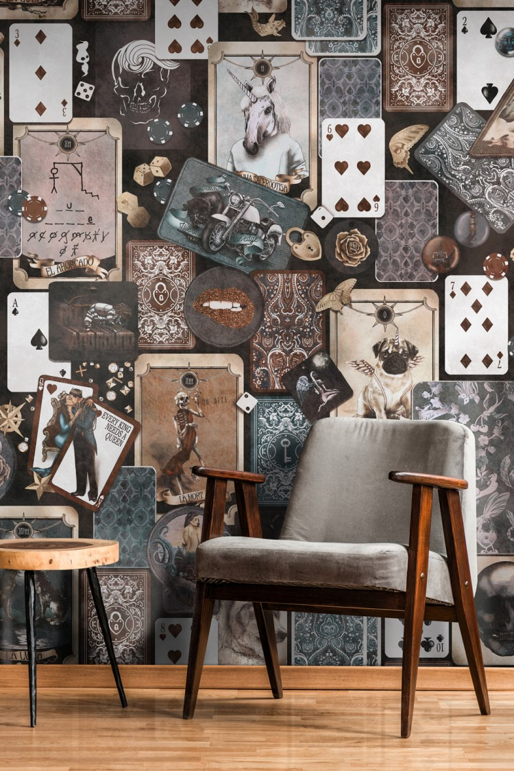 industrial Vintage Quirky grunge commercial cards poker wallpaper