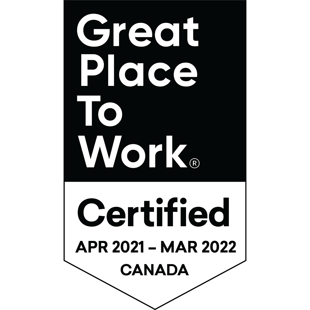 Great Place to Work Certified APR 2021 to MAR 2022 CANADA