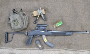 Ruger 10-22: Folding Stock Extended