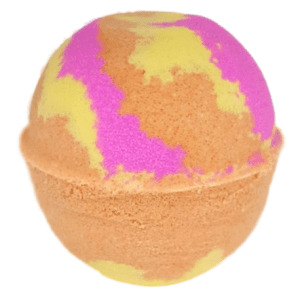 Orange and pink bathbomb