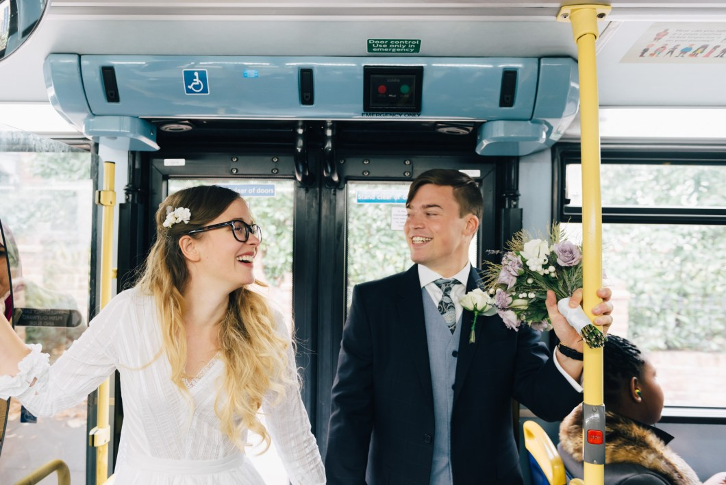 London bus wedding photography