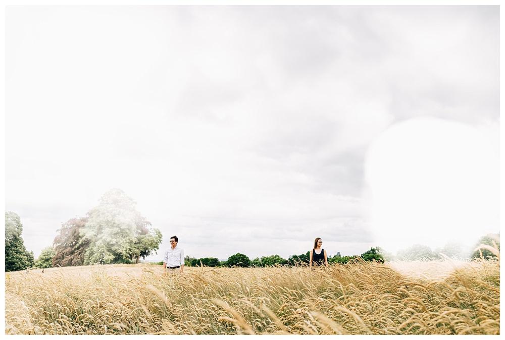 London park engagement photography
