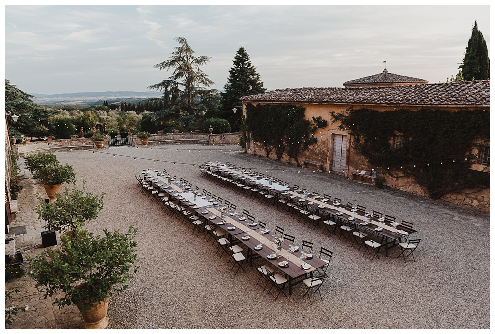 villa catignano reception wedding breakfast