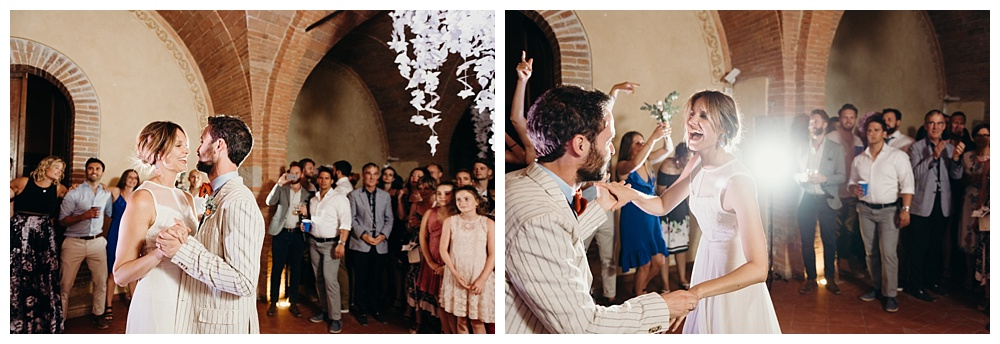 Bride and groom first dance villa catignano wedding photography