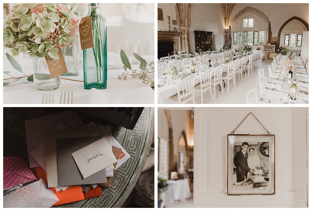 Reception details at Butley Priory.