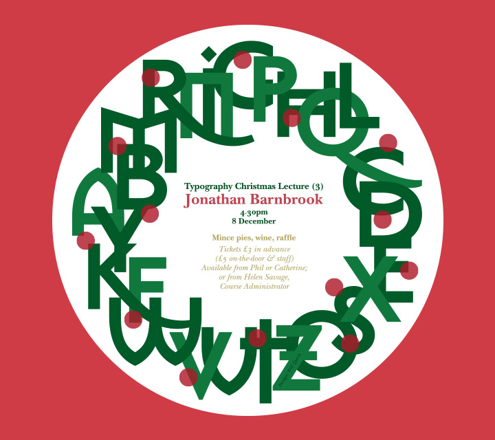 Jonathan Barnbrook Lecture (Poster)
