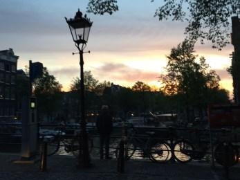 Abendspaziergang in Amsterdam