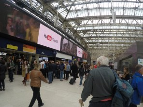 Inside Waterloo Station