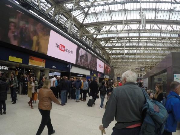 Inside Waterloo Station