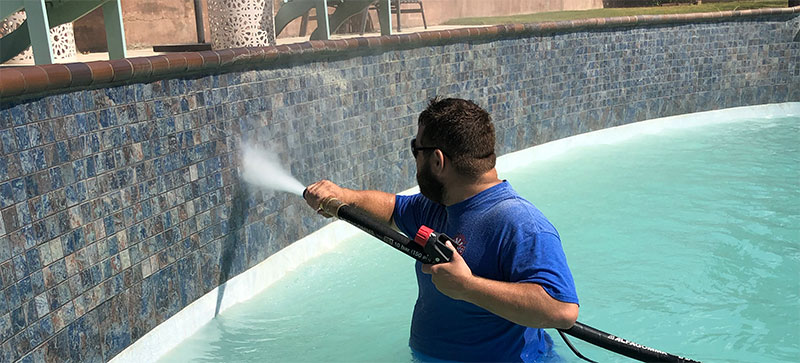 pool tile cleaning restoration paint