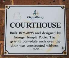City of Albany, Courthouse, George Temple Poole, Historic Australian courthouses, Australian legal history