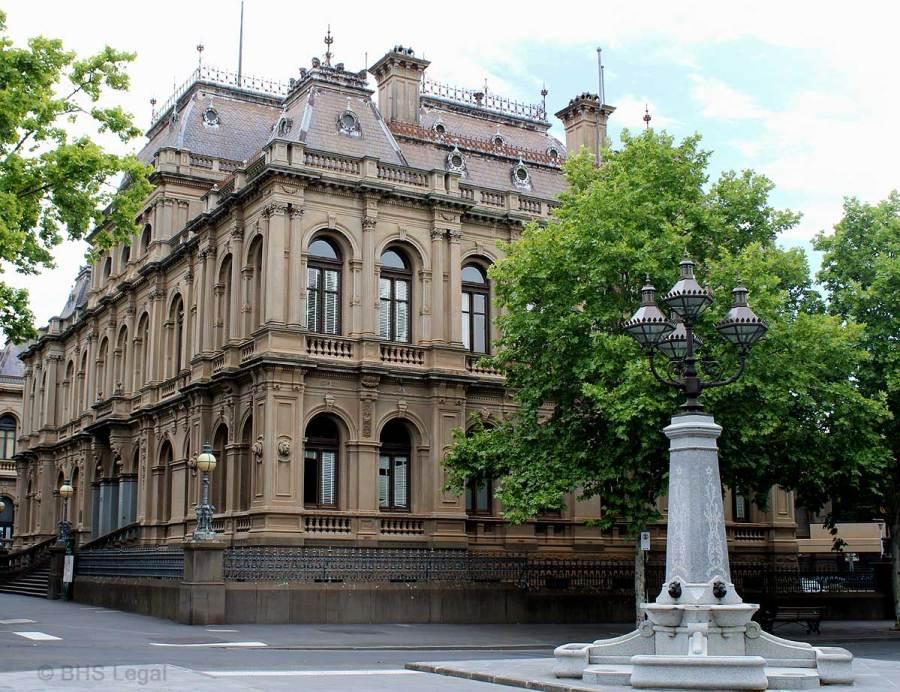 Bendigo Courthouse, early Australian courthouses, Australian legal history