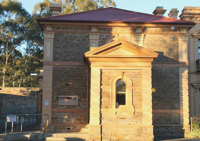 Clare Courthouse, early Australian courthouses, old Australian courthouses