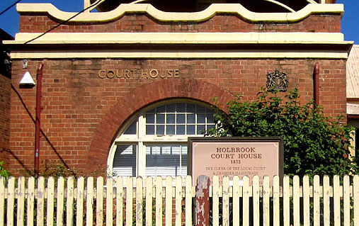 Holbrook Courthouse, early Australian Courthouses, old Australian Courthouses, colonial Australian courthouses, Australian legal history, administration of justice