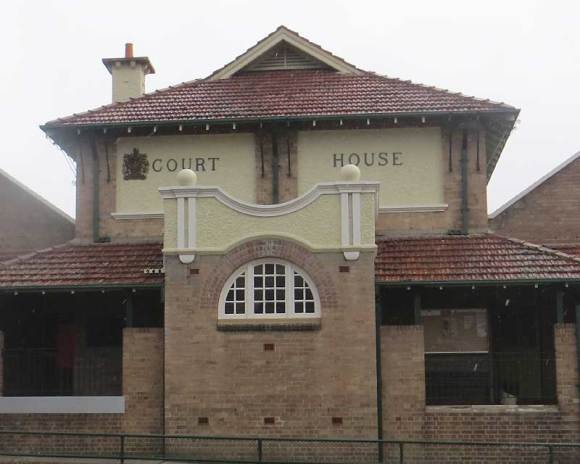 Lithgow Courthouse, early Australian courthouses, old Australian courthouses, colonial Australian courthouses