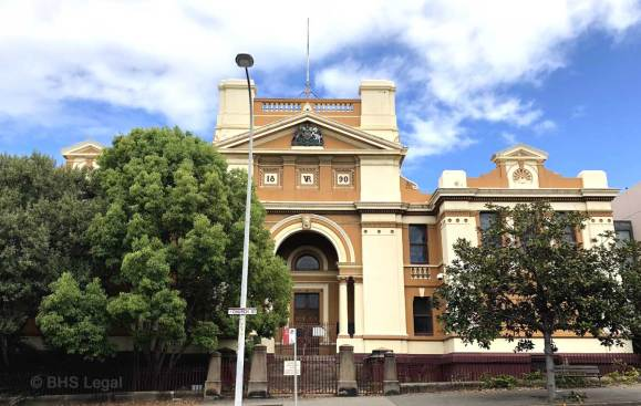 Newcastle Courthouse 1890 NSW