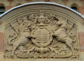 copy of a will, lost will, missing will, will not found, probate application, coat of arms Parkes Courthouse, early Australian courthouses, old Australian courthouses, Colonial Australian courthouses