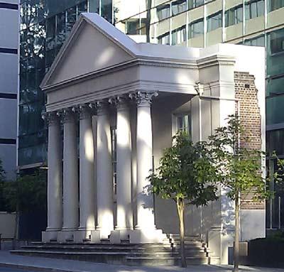District Court facade, Perth WA, Australian courthouses