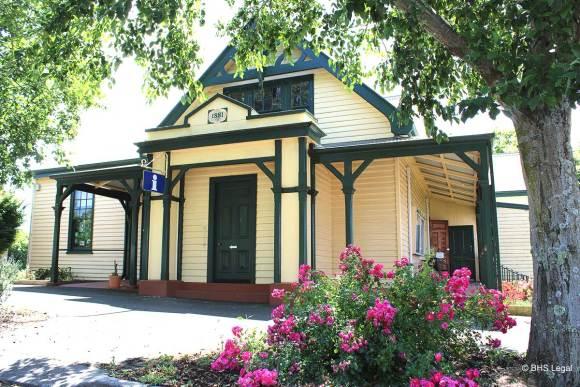 Scottsdale Courthouse (former) Tasmania, early Australian courthouses, Australian legal history,