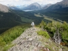 Reaching the crest of the ridge