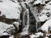 Waterfall before the steps to Lake Agnes Tea House