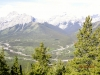 Kananaskis Village from the first view point after the treed trail