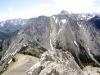 View from summit to unofficial Kananaskis Peak