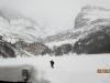 Skiing around the Lake O'Hara