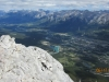 View into Canmore and the Bow Valley