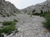 The gully narrows ahead