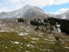 Toward the Tarn route. Part of the McDougall Range