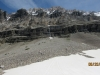 Lingering snow patch at the rock escarpment