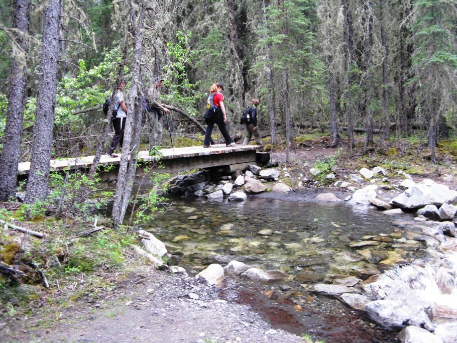 Crossing first Bridge
