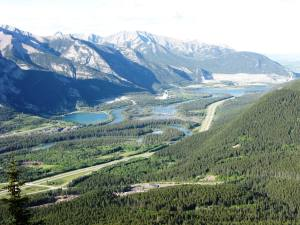 View Bow Valley towards Lac Des Arc