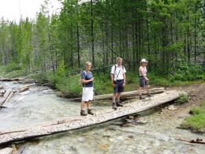 Carole ,Jon & Ruth balance for a photo