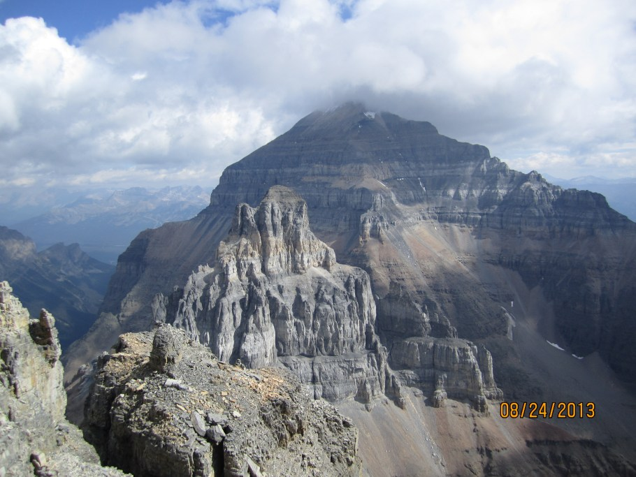 Mt Temple from the summit