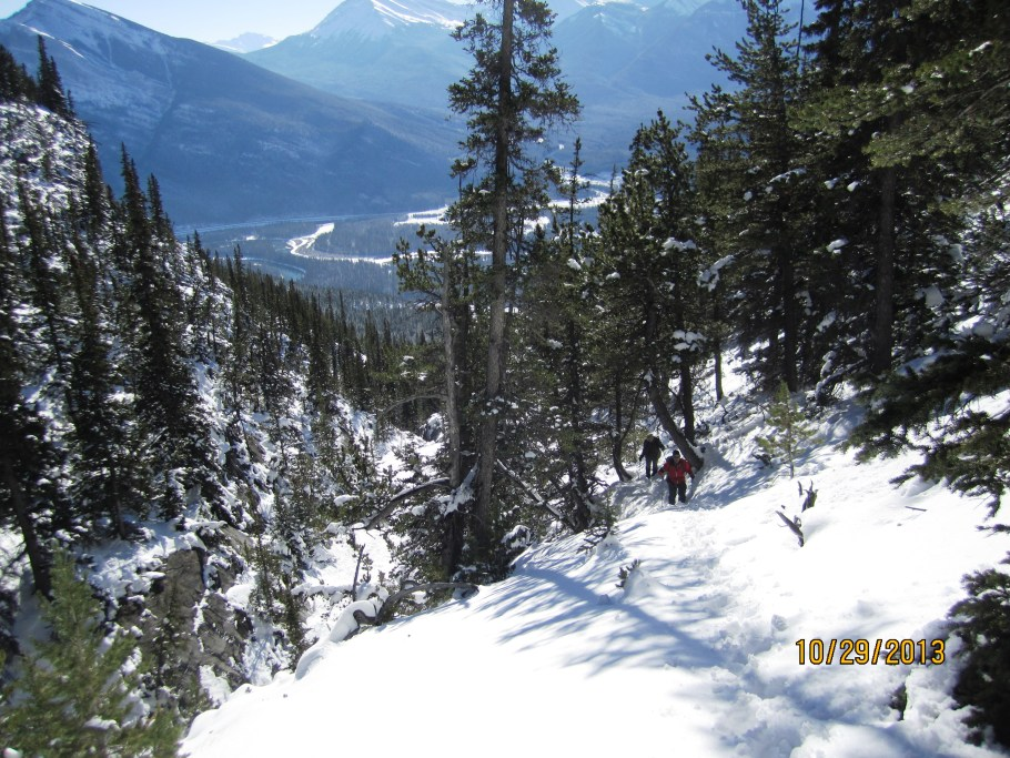 Looking back down the dry gulch