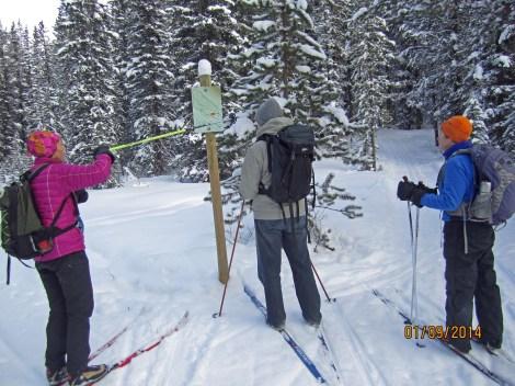 Cross Country Skiing Pipestone.Helen,Peter,Dana