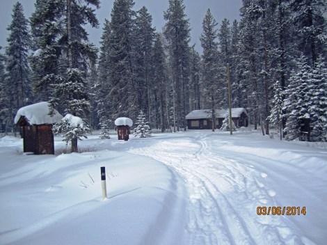 Passing through Castle Mountain camp site