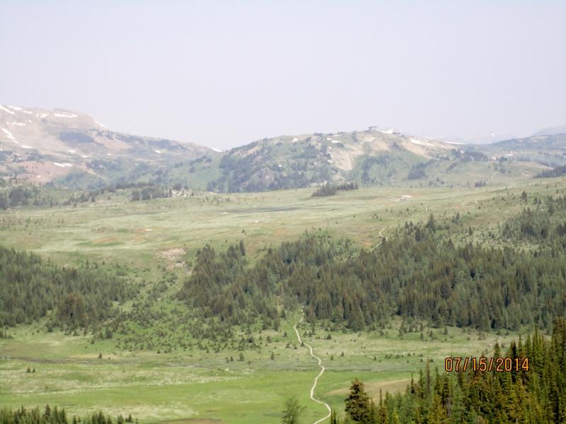 Trail winding away across the landscape
